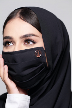 LAYLA Chiffon Mask in Black Aswad