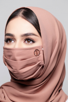 LAYLA Chiffon Mask in Terracotta