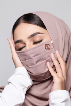 LAYLA Chiffon Mask in Toffee Nude