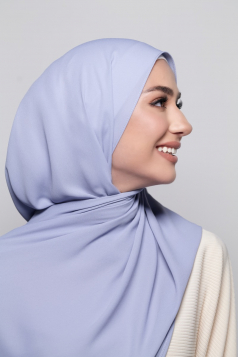 LAYLA Chiffon Shawl in Heather Blue