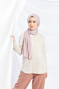 LAYLA Chiffon Shawl in Rose Cloud