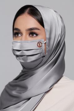 Thalia Satin Earloop Mask in Diamond