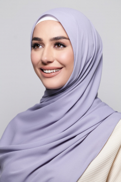 LAYLA Chiffon Shawl in Soft Lilac