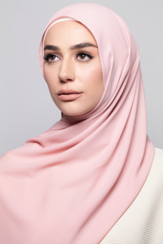 LAYLA Chiffon Shawl in Soft Peach