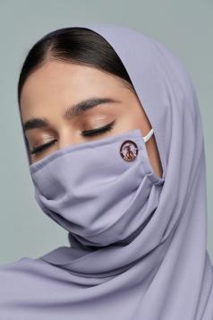 Layla Chiffon Mask in Soft Lilac