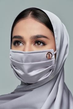 Thalia Satin Mask in Diamond