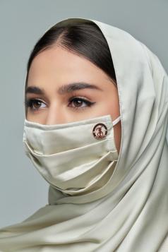 Thalia Satin Mask in Ice Mint