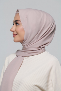 LAYLA Chiffon Shawl in Rose Latte