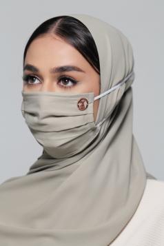 LAYLA Chiffon Headloop Mask in Matcha