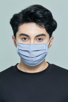 TAHA Chiffon Mask in Heather Blue