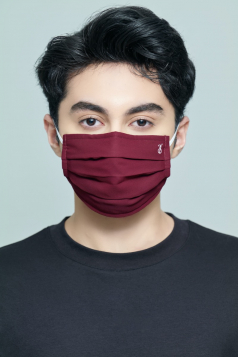 TAHA Chiffon Mask in Cranberry