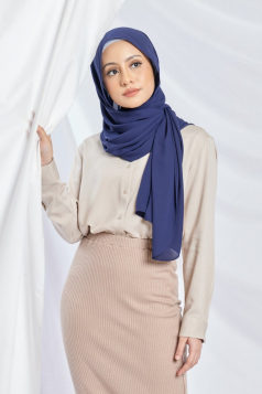 LAYLA Chiffon Shawl in Nile Blue