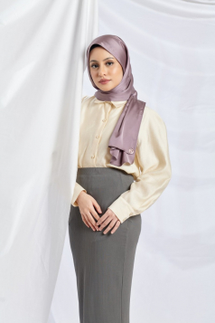 THALIA Satin Shawl in Amethyst Grey