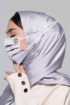 Thalia Satin Headloop Mask in Lavender
