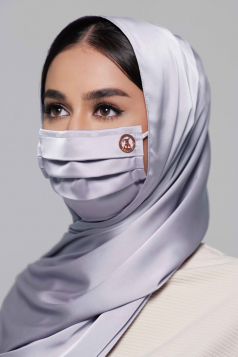 Thalia Satin Earloop Mask in Lavender