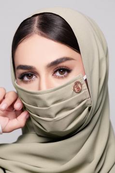 LAYLA Chiffon Earloop Mask in Matcha