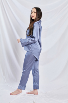 Satin Silk Pyjama in Powder Blue