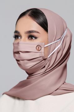 LAYLA Chiffon Headloop Mask in Rose Cloud